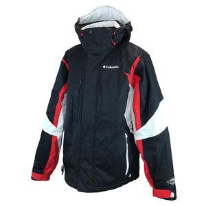 NWOT Columbia Mens Black Red Winter Jacket M